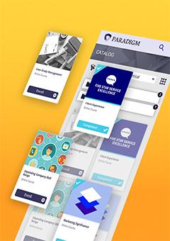 online training development software mobile