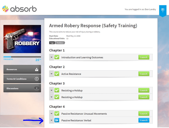 Absorb LMS: Armed Robbery