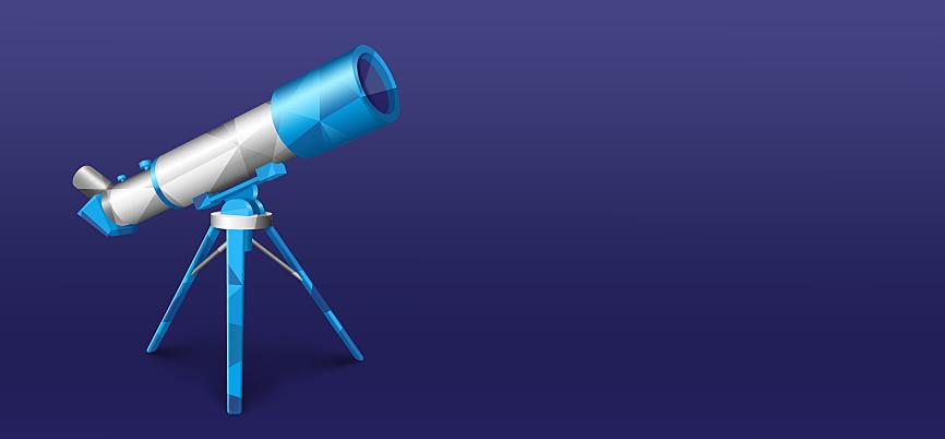 Telescope aimed upwards